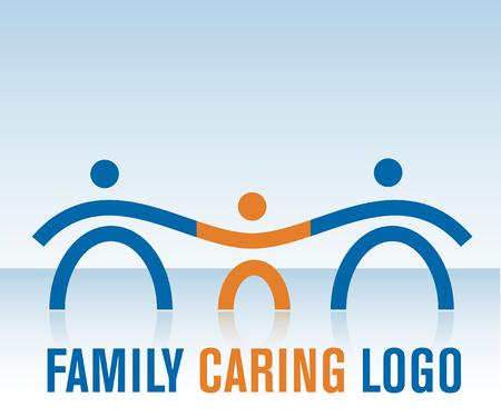 Familie Caring Logo Standard-Bild - 7161740