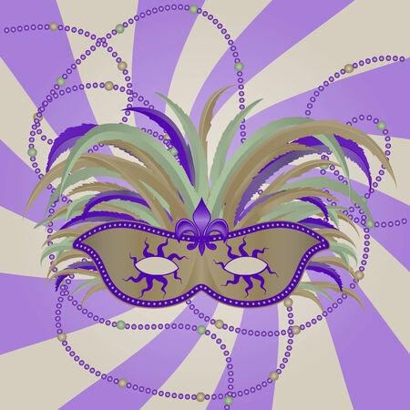 Masquerade Mardi Gras Mask Stock Vector - 7161751