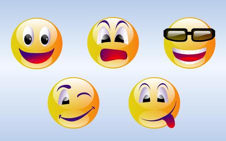 clin d oeil: Smiley Face �motic�nes  Illustration