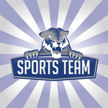 logotipo animal: Logotipo de Team de deportes de tigre  Vectores