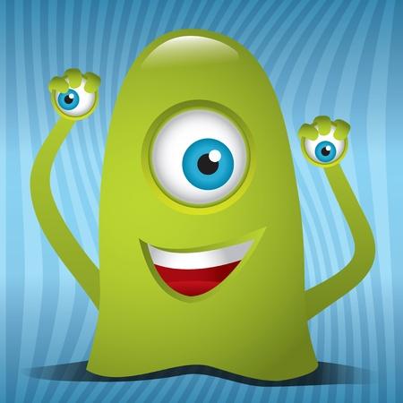 with humor: Alien Monster Illustration