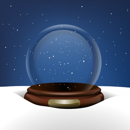 Empty Snow Globe in Snow Vector