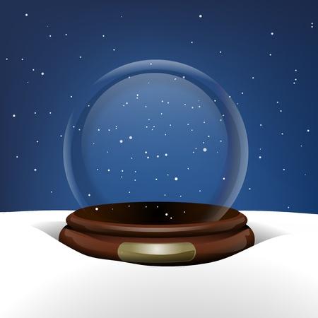 Empty Snow Globe in Snow