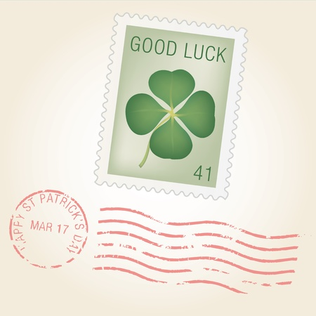 St Patty Stamp Illustration