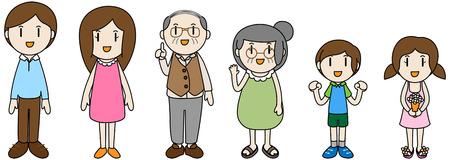 3 générations Famliy illustration Vecteurs