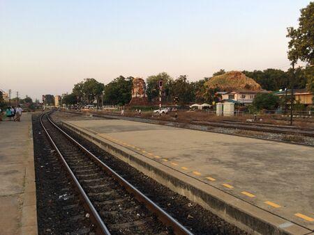 railroad station platform: Railroad at Lopburi
