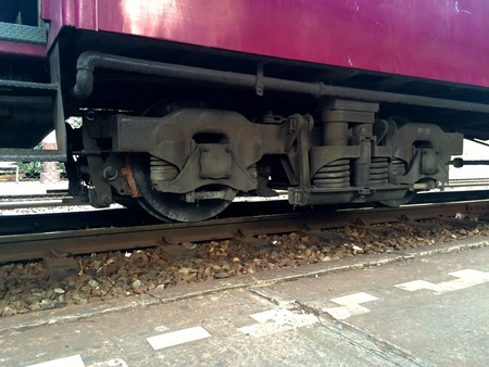 bogie: Train bogie Stock Photo