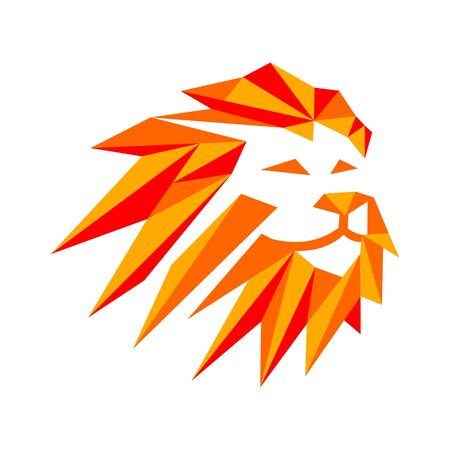 abstract polygamy Lion head