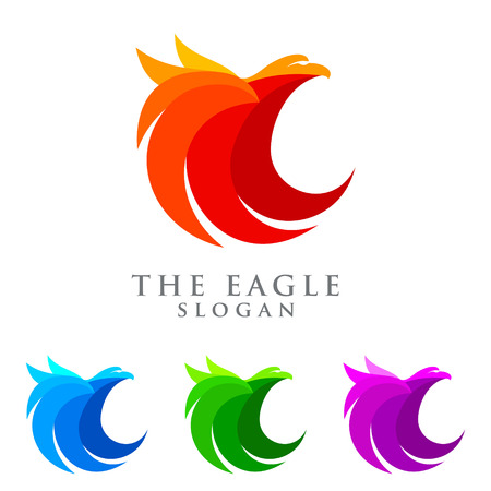 emplate: Abstract of eagle  emplate, falcon, hawk vector  design