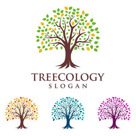 eco green , tree finance, tree , vector  design Illustration