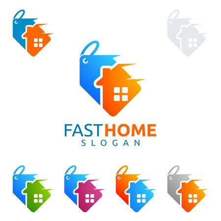 Fast sale home , real estate , home, house vector  design Illustration