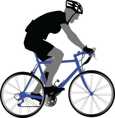 자전거 타는 사람 - 벡터