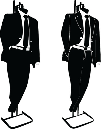 business suits - vector Vector