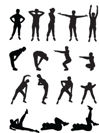 physical training: aerobics girls