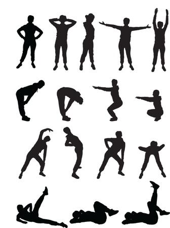 stretching: ni�as de aer�bic