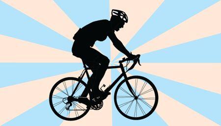 biker with background Stock Vector - 14854033