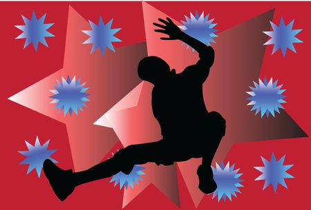 breakdance with background Stock Vector - 14854062