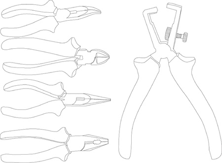 pliers collection Stock Vector - 14854126