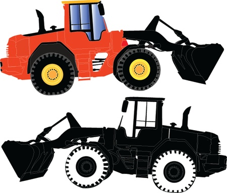 tow tractor: tracked Illustration