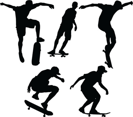 skateboardes - vector Stock Vector - 20038565