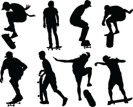 skateboarders - vector Stock Vector - 20038570