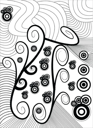 wind surfing: abstract - vector