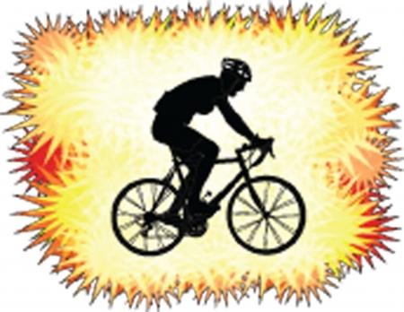biker with background  Illustration