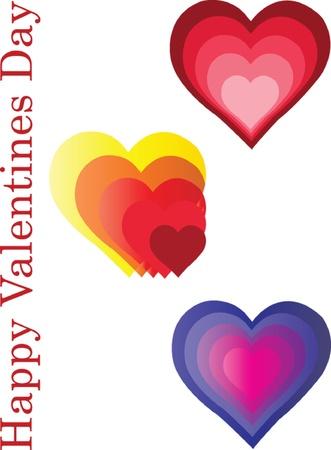 happy valentines - vector Illustration