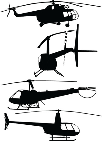 military helicopter: helicopters collection - vector