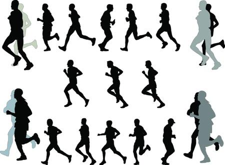 illustration of marathon  Illustration