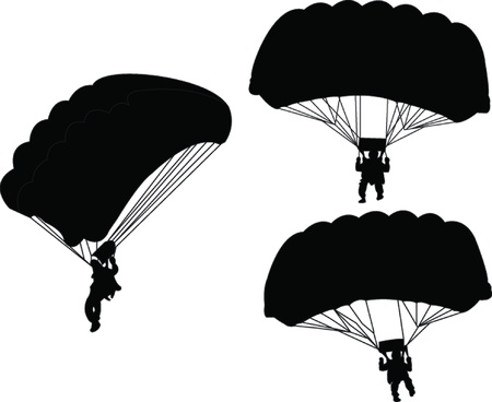 illustration of parachutist  Stock Vector - 20692987