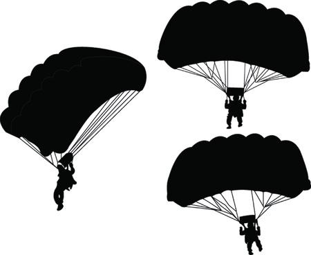 parachutist: illustration of parachutist  Illustration