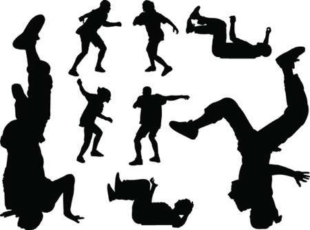 cool guy: breakdance - vector