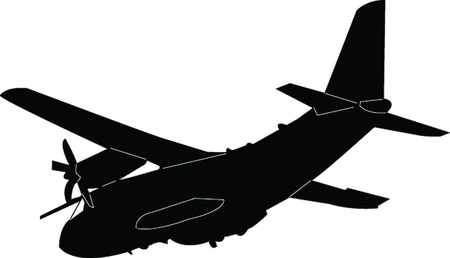 airplane silhouette - vector Stock Vector - 21700319