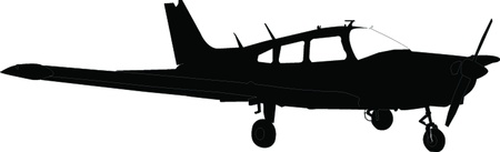 silhouette of aircraft - vector Stock Vector - 21700321
