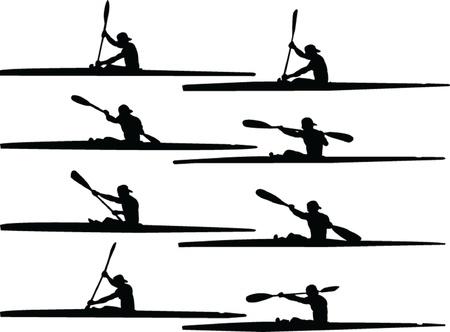 roeien collection - vector Stock Illustratie