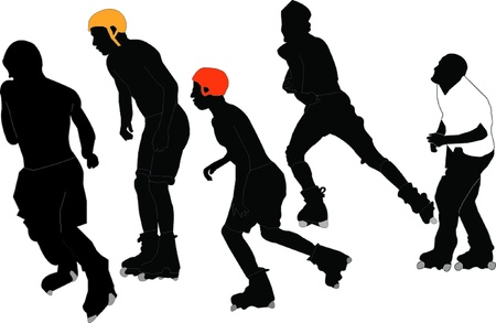 roller skaters - vector Stock Vector - 21700403
