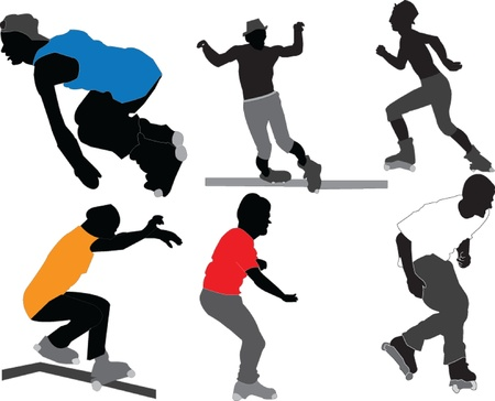 roller skaters - vector Illustration