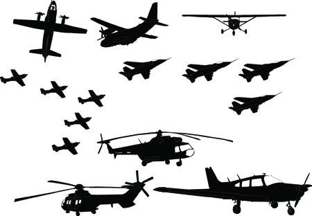 aircraft collection - vector Vectores