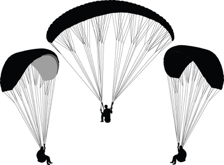 parapente: paragliding - vector