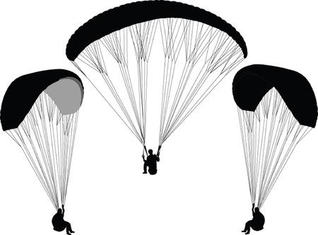 paragliding - vector