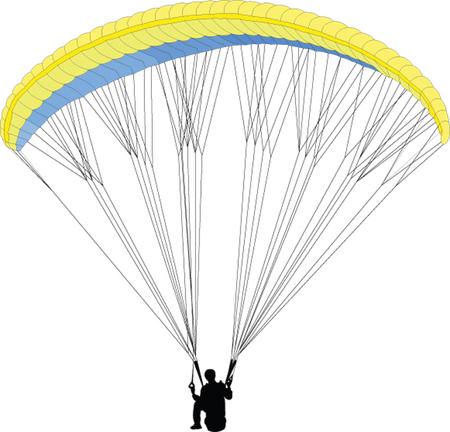 paragliding 2 - vector