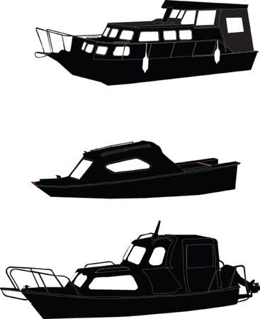 inflate boat: boats collection - vector