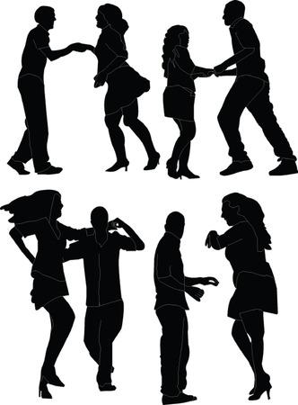 dansers collectie - vector