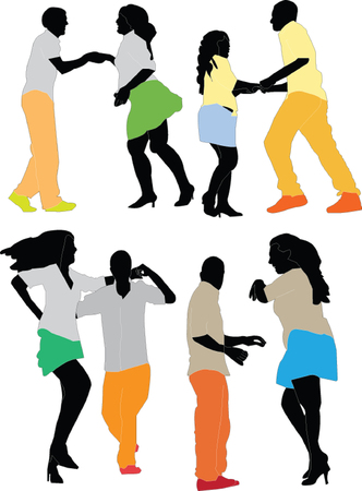 dancers collection - vector
