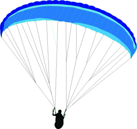 paraglider - vector