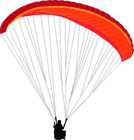 backlink: paragliding - vector