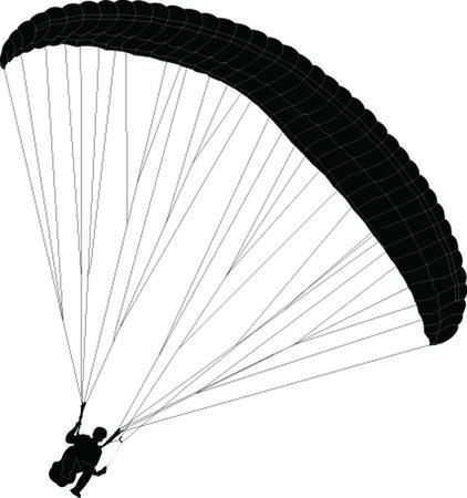 Parapendio - vector