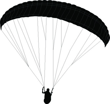 paragliding: paragliding - vector