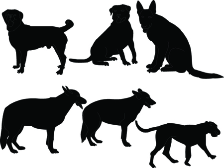 dog collection silhouette